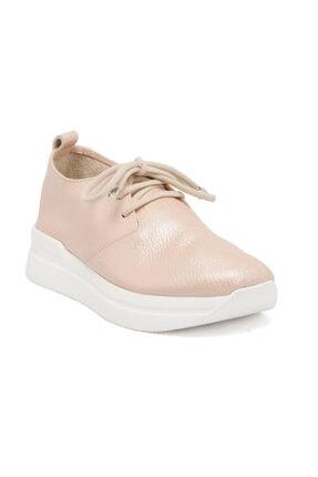 Tergan Yavruağzı Deri Kadın Ayakkabı 63370D6T