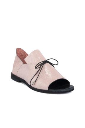 Tergan Pudra Deri Kadın Ayakkabı 64363a67