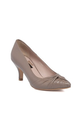 Tergan Vizon Deri Kadın Ayakkabı 64331a44