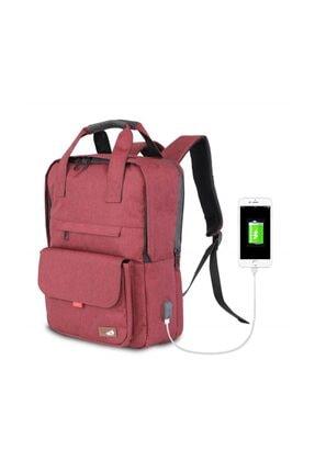 My Valice Smart Bag Usb Şarj Girişli Akıllı Sırt Çantası 1205 Bordo