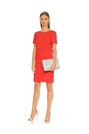 Lanvin Kısa Kollu Kırmızı Elbise