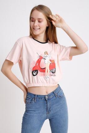 Deppoist Baskılı Lastikli T-shirt