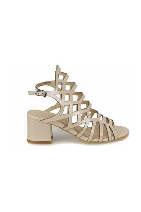 Missf DS18082 Bej Kadın Dress Ayakkabı