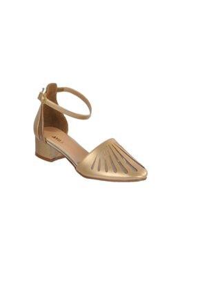 MAJE 6033 Altın Kadın Topuklu Ayakkabı