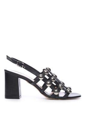 Kemal Tanca Hakiki Deri Siyah Kadın Ayakkabı 51 2136 BN AYK