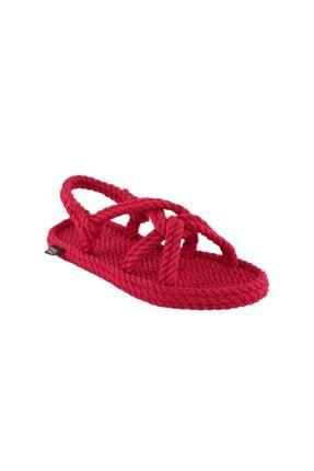 NOMADIC REPUBLIC Bora Bora Kadın Halat & İp Sandalet - Kırmızı
