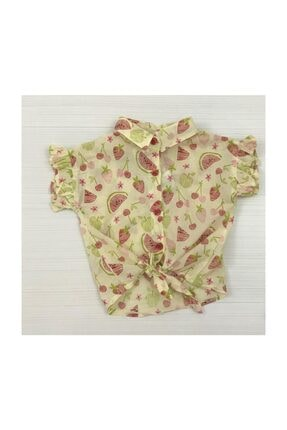 Timo Kız Çocuk Meyve Desenli Gömlek