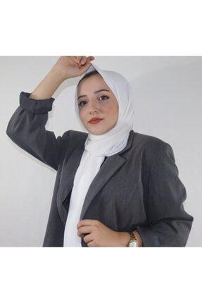 Eflatun Kadın Beyaz Cazz Şal