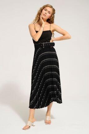 Batik Kadın Siyah Desenlı Casual Etek