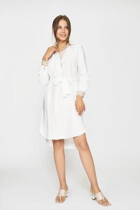 Batik Kadın Beyaz Duz Casual Tunik