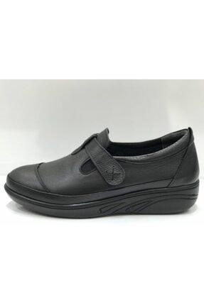 Santa Barbara Polo & Racquet Club Kadın Siyah Hakiki Deri  Confort Ayakkabı