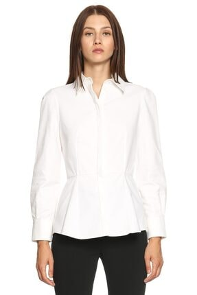 Alexander McQueen Kadın Beyaz Gömlek