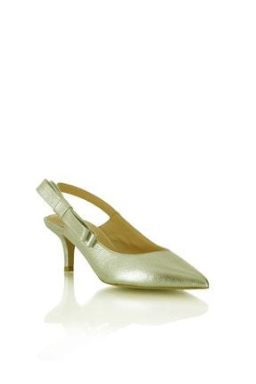 POLETTO 974 100 Krıstal Altın R4203 Kadın Ayakkabı-(6 Cm)