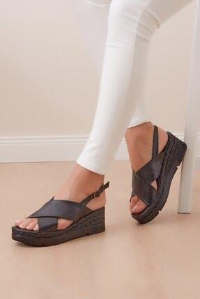 Shoes Time Kadın Siyah Sandalet