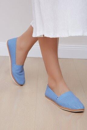Shoes Time Kadın Mavi Babet 19y 151