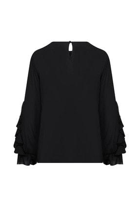 W Collection Kadın Kolları Volan Detaylı Bluz