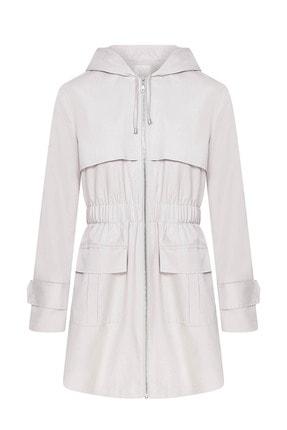W Collection Kadın Beyaz Yağmurluk