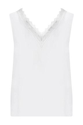 W Collection Kadın Dantelli Kolsuz Bluz