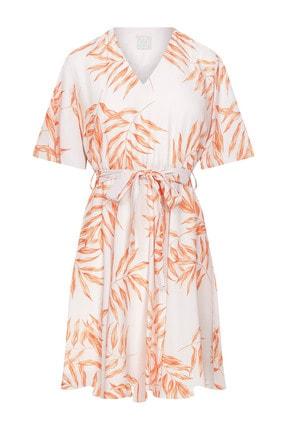 W Collection Kadın Yaprak Printli Elbise