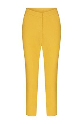 W Collection Kadın Sarı Basic Pantolon