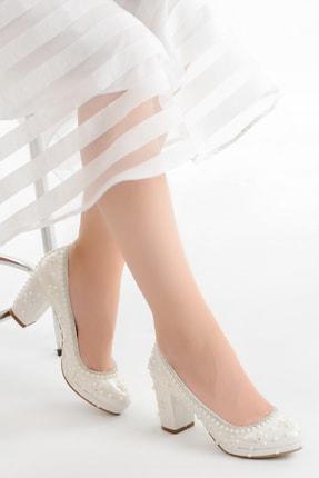 Ayakland Kadın Sedef Taşlı Gelin Ayakkabısı