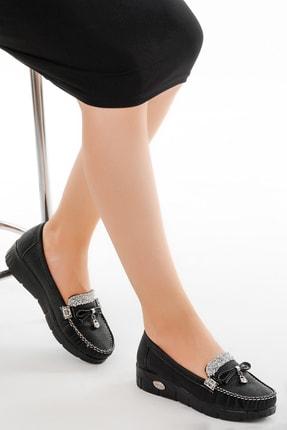 Ayakland Kadın Siyah Babet Ayakkabı Cns 181