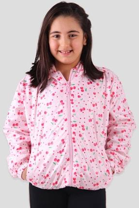 Breeze Kız Çocuk Yağmurluk Kiraz Desenli Kırmızı (9-12 Yaş)