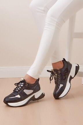 Shoes Time Kadın Siyah Kalın Taban Spor Ayakkabı