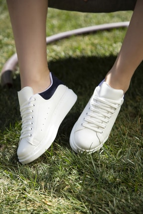 Ayakkabı Modası Kadın Beyaz Sneaker Ayakkabı