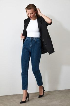 TrendyolMilla Indigo Yüksek Bel Mom Jeans TWOAW20JE0129