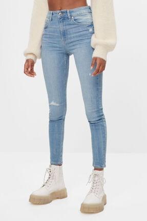 Bershka Kadın Açık Mavi High Waist Skinny Jean