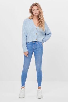 Bershka Kadın Mavi Düşük Bel Skinny Jean