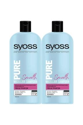 Syoss Pure Smooth Micellar Şampuan 550 Ml X 2 Adet