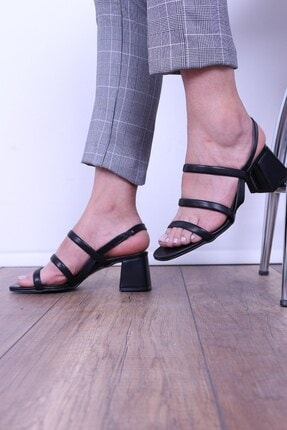 Derigo Kadın Siyah Topuklu Ayakkabı