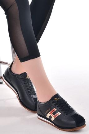 Hammer Jack Kadın Siyah Deri Spor Ayakkabı 102 20001