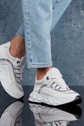 DARK SEER Beyaz Kadın Sneaker DS.PMD173K800
