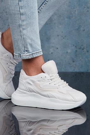 DARK SEER Beyaz Kadın Sneaker DS.MKA208