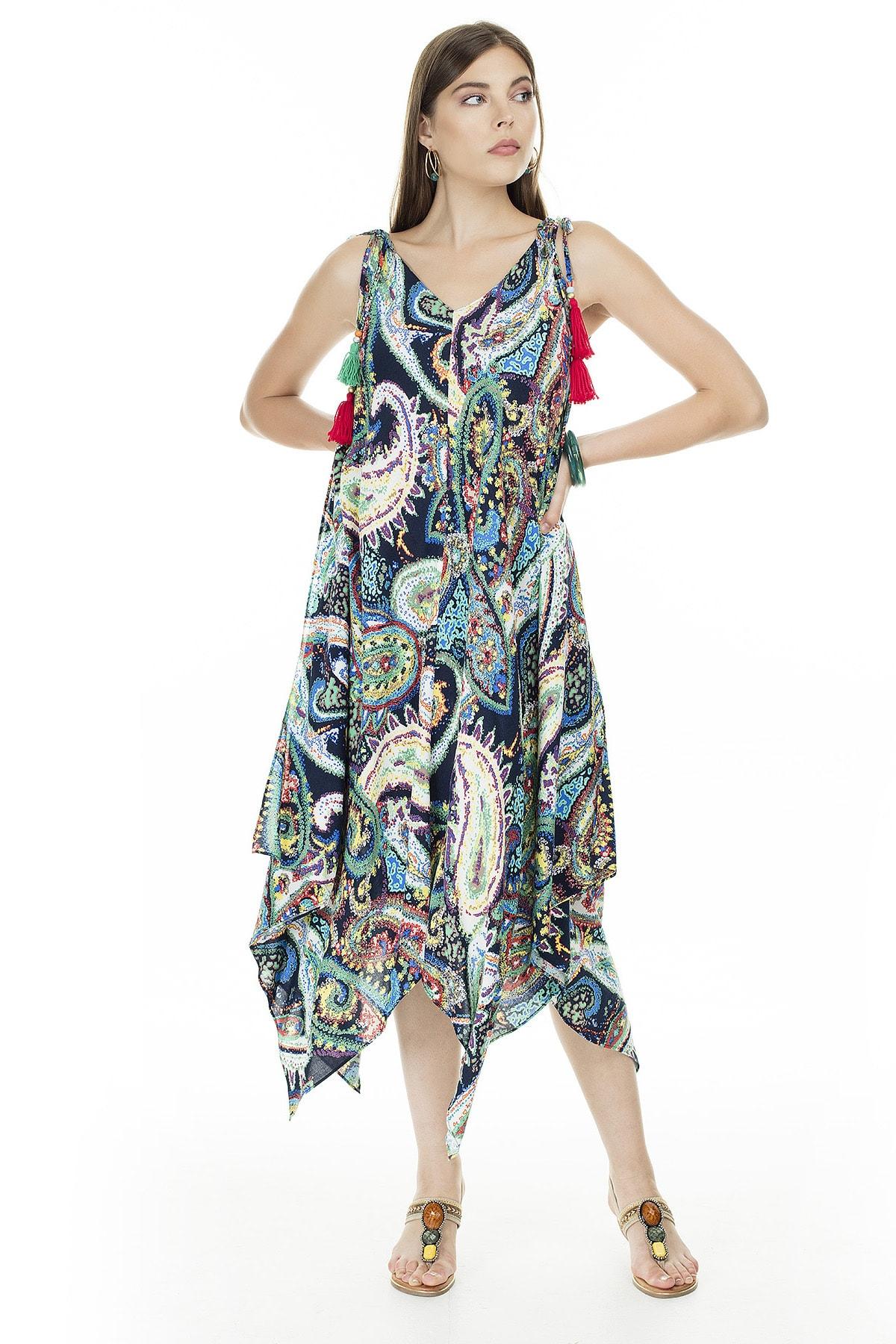 Ayhan Mint V Yaka Elbise Kadın Elbise 04661475