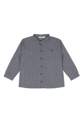 Cigit Unisex Çocuk Uzun Kollu Ekose Gömlek