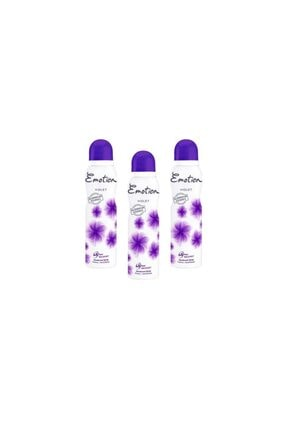 Emotion Violet Deodorant 150 Ml (3 Adet)