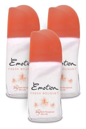 Emotion Fresh Bouquet Kadın Roll-On Deodorant 3x50ml