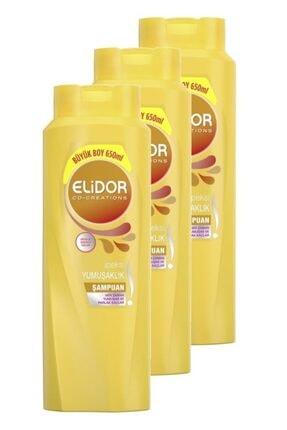 Elidor Ipeksi Yumuşaklık Şampuan 650 Ml. Üçlü Set