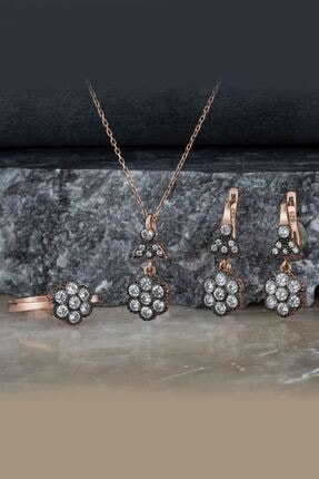 Else Silver Elmas Montürü Gümüş Takı Seti