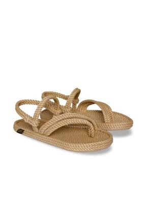 NOMADIC REPUBLIC Kadın Bej Halat  İp Sandalet