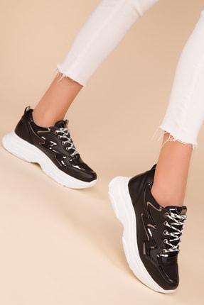 SOHO Kadın Siyah-Platın Sneaker 15222