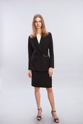 W Collection Kadın Beli Zincir Detaylı Ceket