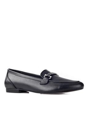 Cabani Kadın Siyah Toka Deyaylı Loafer Günlük Ayakkabı