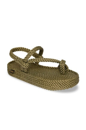 NOMADIC REPUBLIC Hawaii Platform Kadın Kalın Taban Ip Sandalet