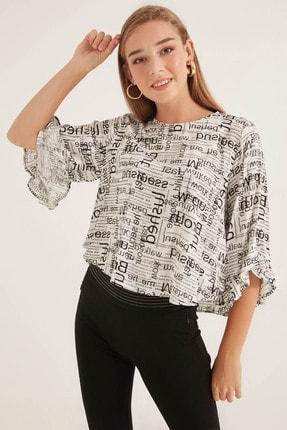 Home Store Kadın Siyah-Beyaz Bluz 20230007208