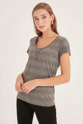 Home Store Kadın Grı T-Shirt 20250119053